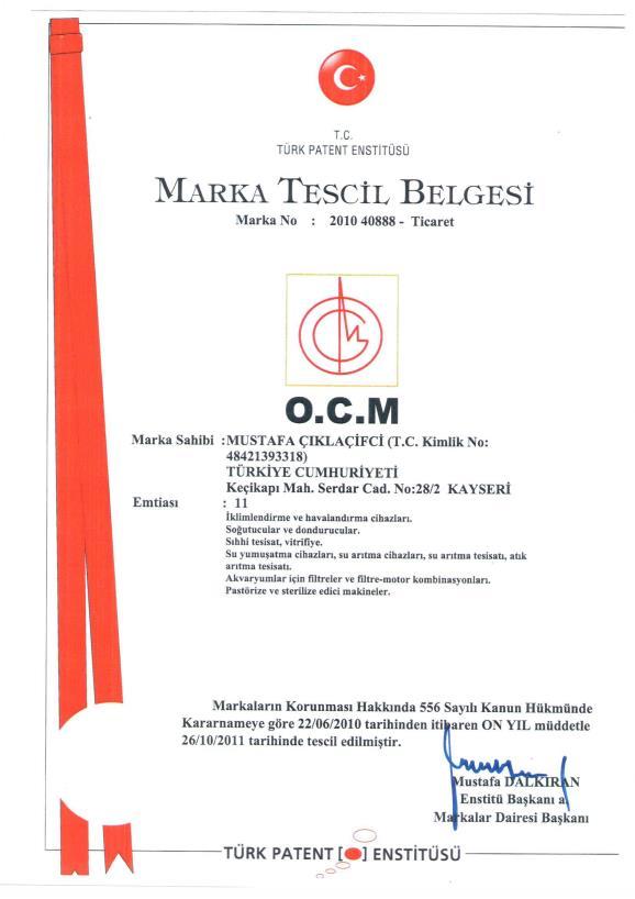 Marka Tescil Belgesi -2